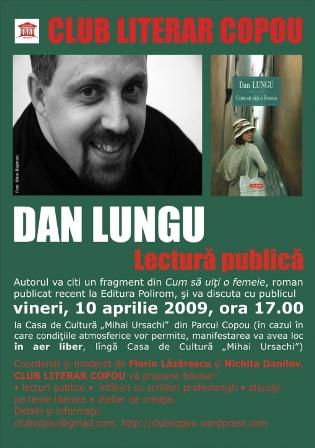 Lectură publică: Dan Lungu