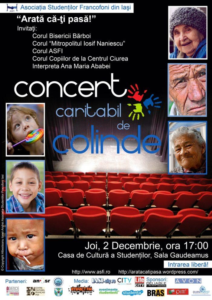 Concert caritabil de colinde: Arată că-ţi pasă