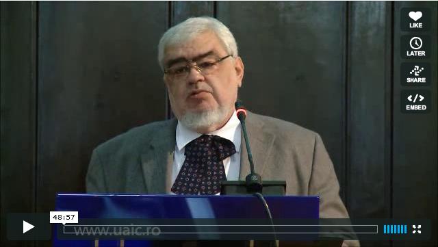"""VIDEO – Conferinţa """"Parabolele lui Iisus – o analitică a receptivităţii"""" susţinută de Andrei PLEŞU"""
