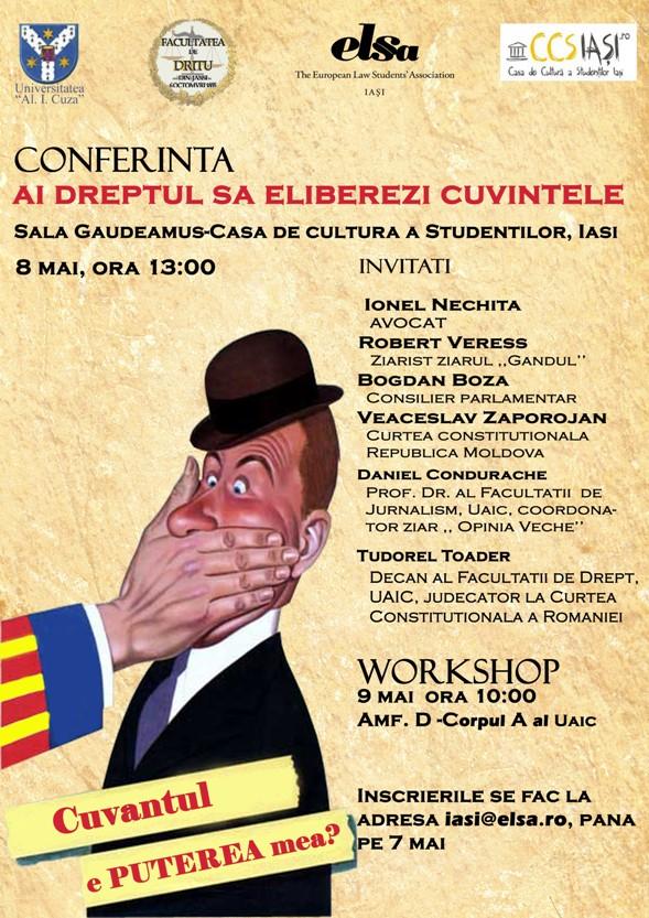 Conferinţă pe tema dreptului la liberă exprimare