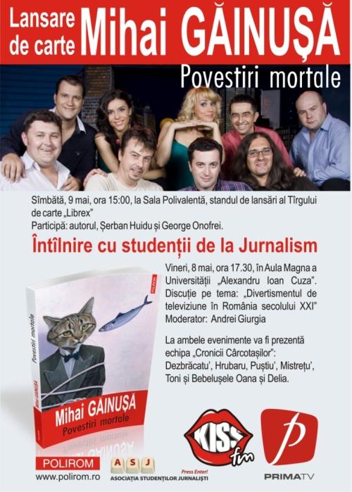 Mihai Găinuşă lansează noua sa carte la UAIC