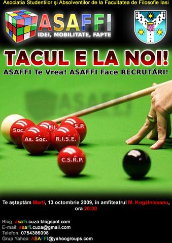 A.S.A.F.F.I.  recrutează