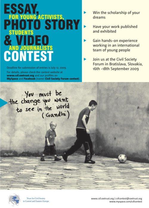 Concurs de Eseuri, Fotografie şi Film despre Societatea Civilă