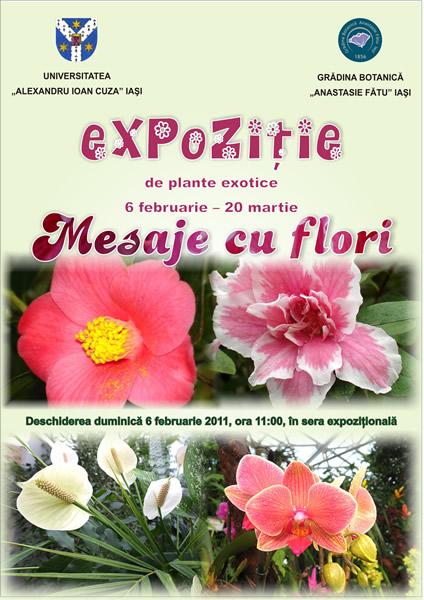 """Expoziţia de plante exotice """"Mesaje cu flori"""""""