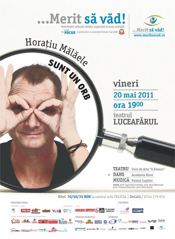 Horațiu Mălăele la Iași