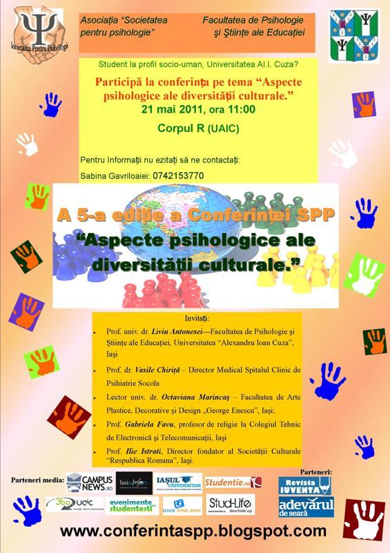 """Conferinţa """"Aspecte psihologice ale diversităţii culturale"""""""