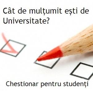 Mai ai o săptămână în care poți completa chestionarul pentru studenți