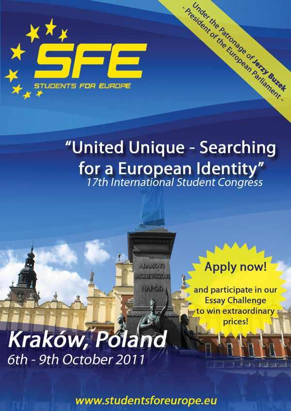 """Congresul """"Studenţi pentru Europa"""" – anul acesta la Cracovia. Vezi cum poţi participa"""