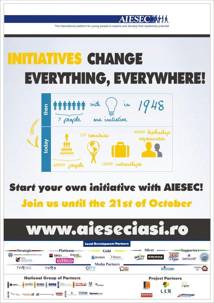 AIESEC Iaşi face recrutări