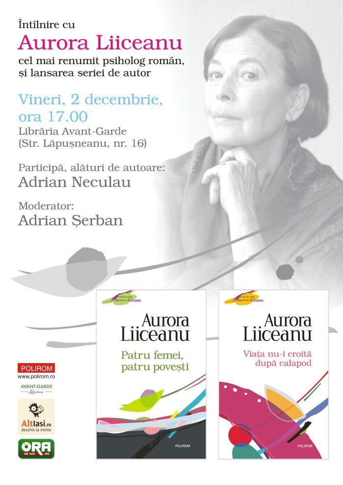 Întilnire cu Aurora Liiceanu, cel mai cunoscut psiholog din România, la Librăria Avant-Garde
