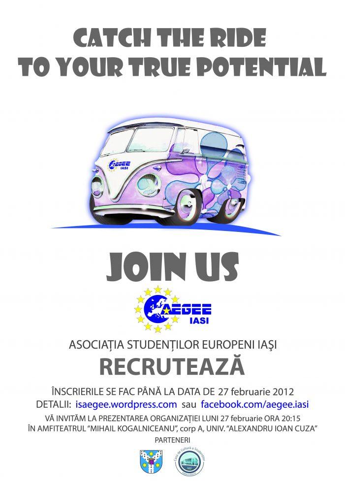 Asociaţia Studenţilor Europeni Iaşi recrutează noi membri