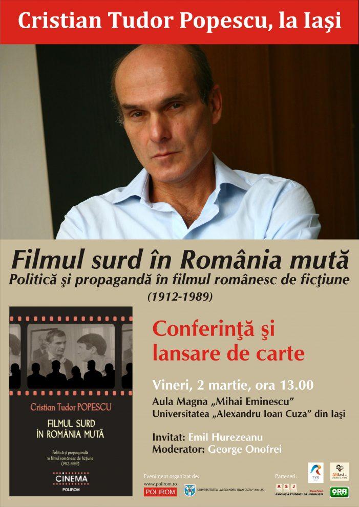 """Cristian Tudor Popescu: """"Cinematograful e depăşit ca mijloc de propagandă. Acum se foloseşte televiziunea."""""""