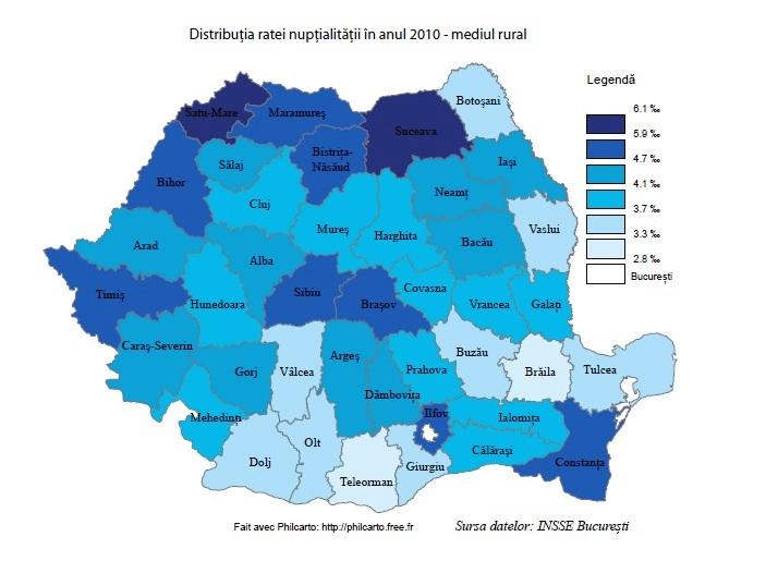 nuptialitate 2010 rural