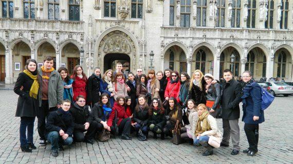 Studenți de la Facultatea de Drept în vizită la Bruxelles