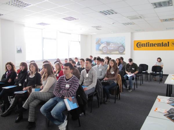 Studenții UAIC au vizitat timp de o zi compania Continental Iaşi