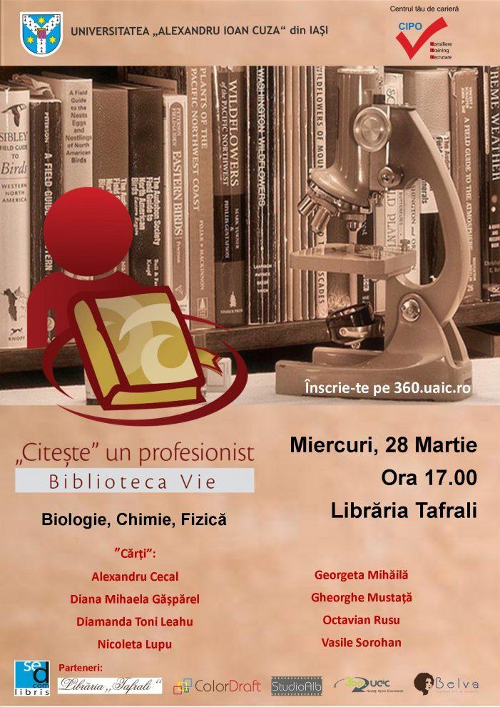 Student la Biologie, Fizică, Chimie? Înscrie-te la Biblioteca Vie!