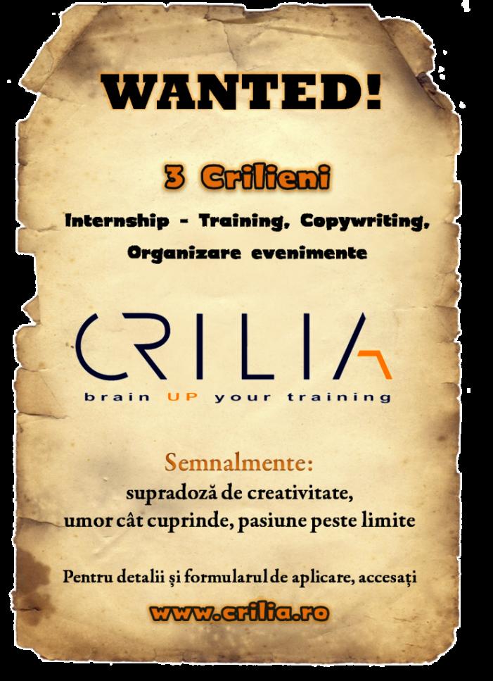 Internship oferit de Crilia
