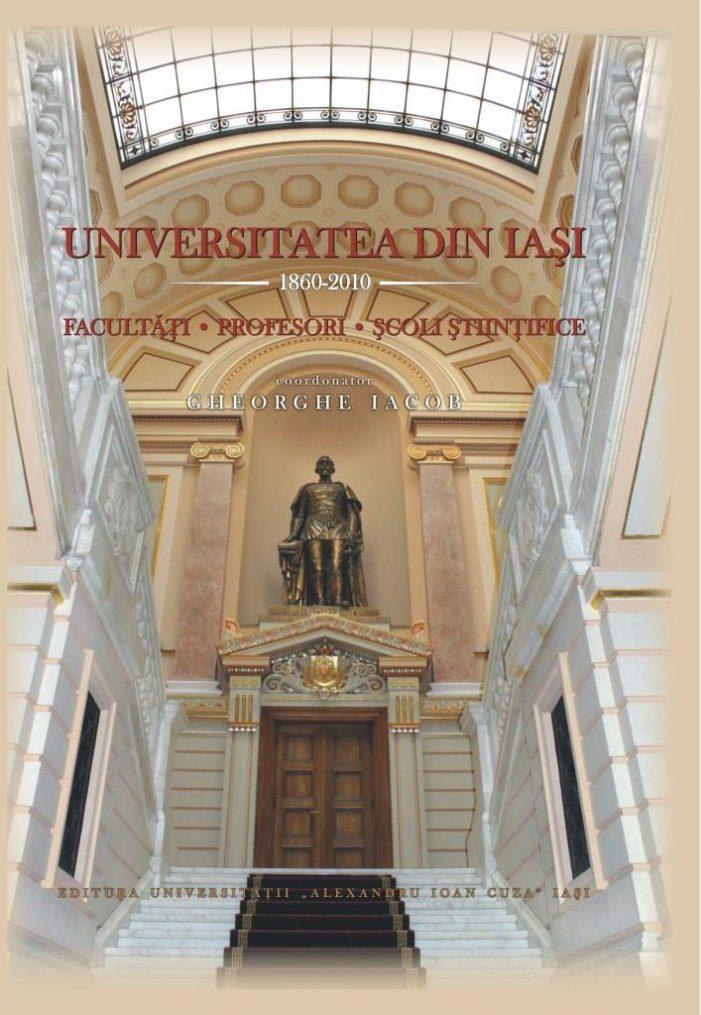 """Premiul """"Spiru Haret"""" pentru volumul """"Universitatea din Iaşi. 1860-2010. Facultăţi. Profesori. Şcoli ştiinţifice"""", coordonat de Gheorghe Iacob"""