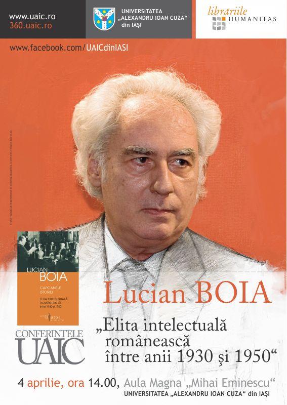 """Conferințele UAIC: """"Elita intelectuală românească între anii 1930 și 1950"""""""