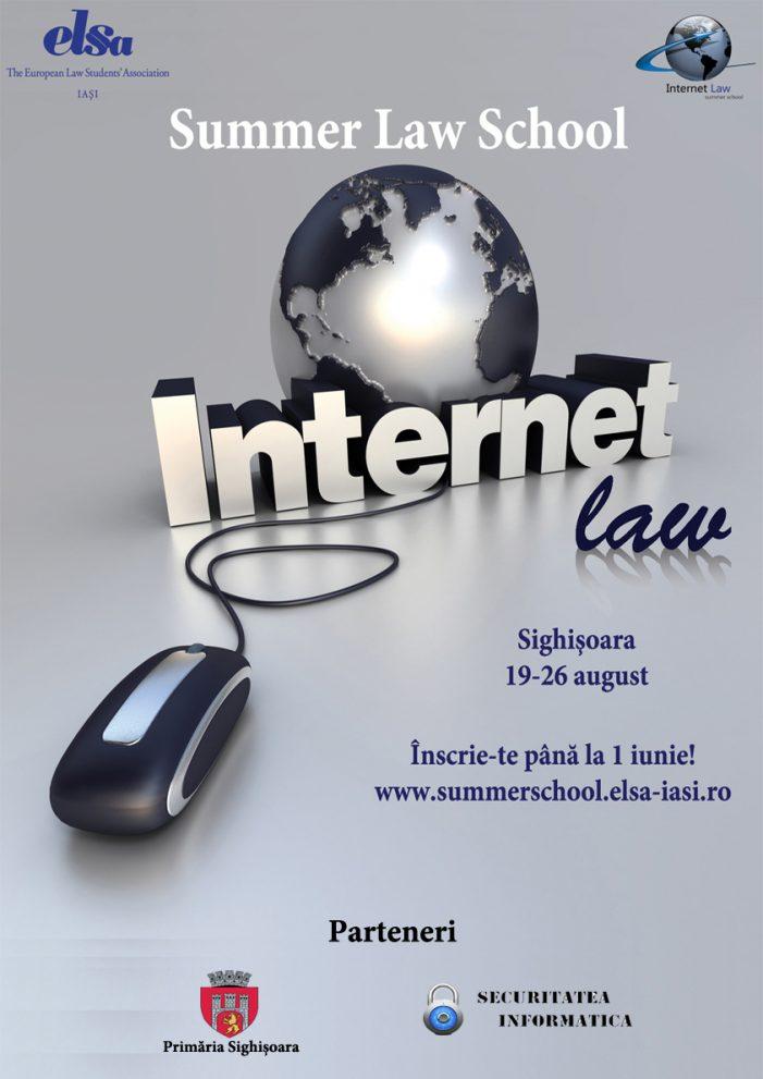 ELSA Iași dă startul înscrierilor pentru Internet Law Summer School