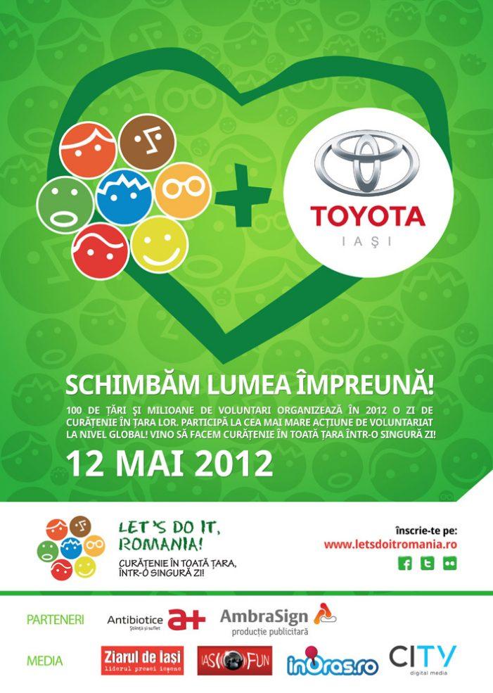 Stabileste un record in Ziua De Curatenie Nationala si echipa Let's Do It, Romania! Iasi alaturi de Toyota te premiaza