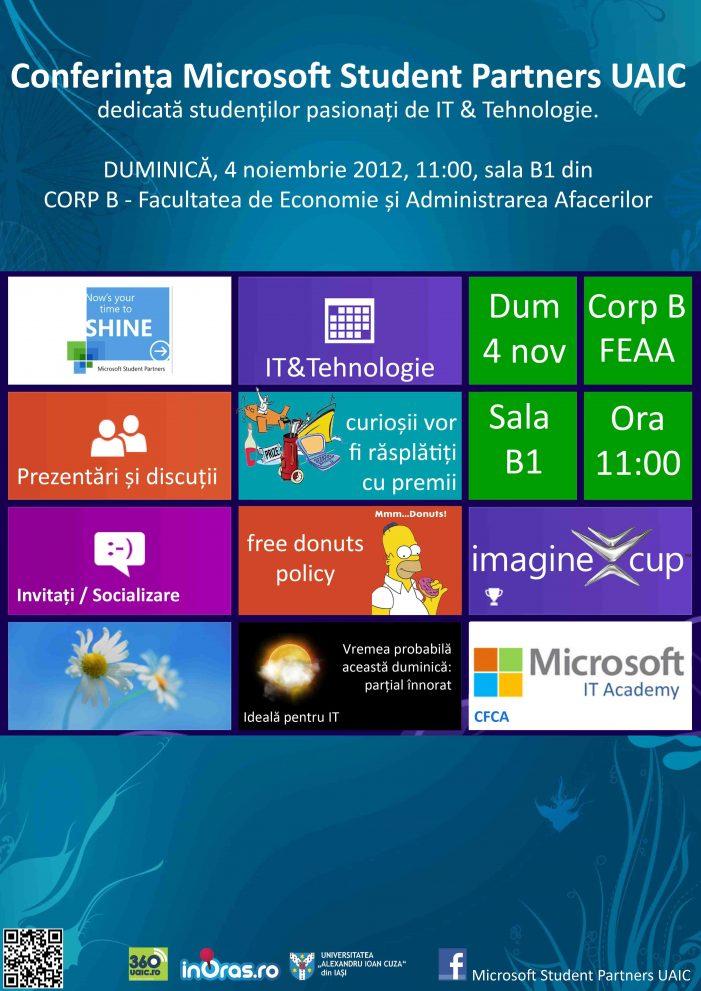 Conferinţa Microsoft Student Partners