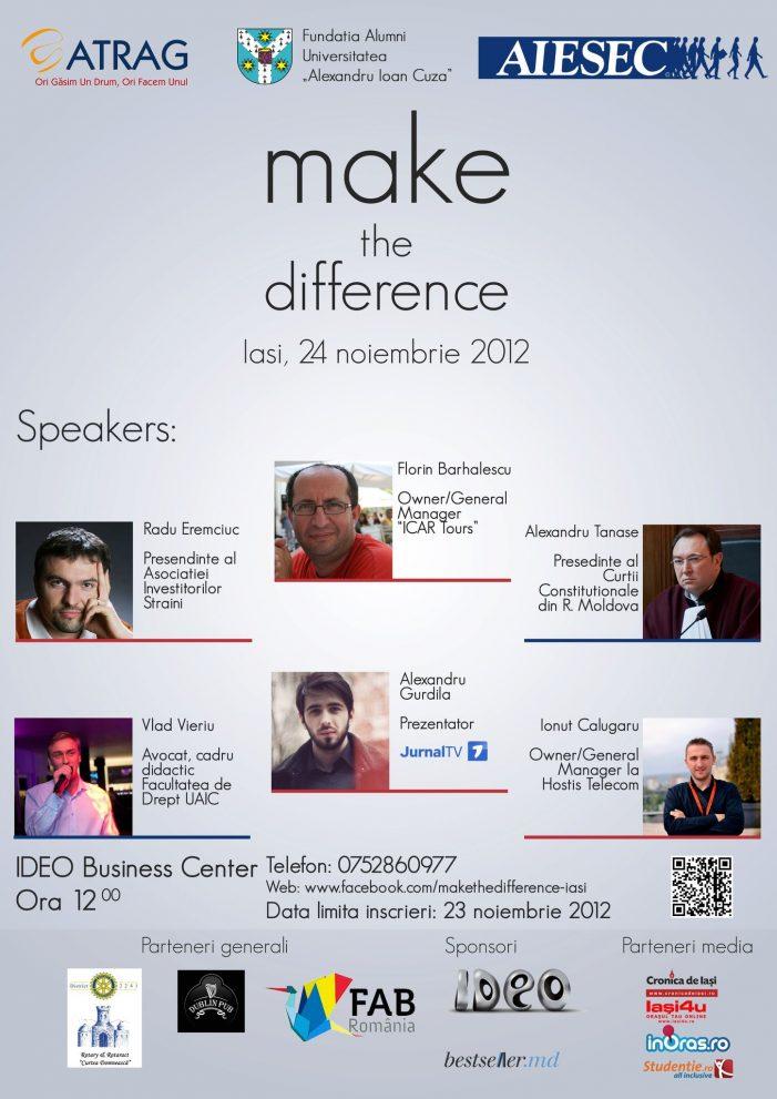 """Conferinţele """"Make a difference"""""""