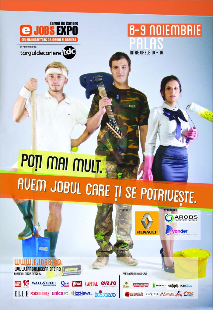Surprize la Târgul de Cariere eJobs Expo Iași: sute de oferte de angajare, concursuri și seminarii