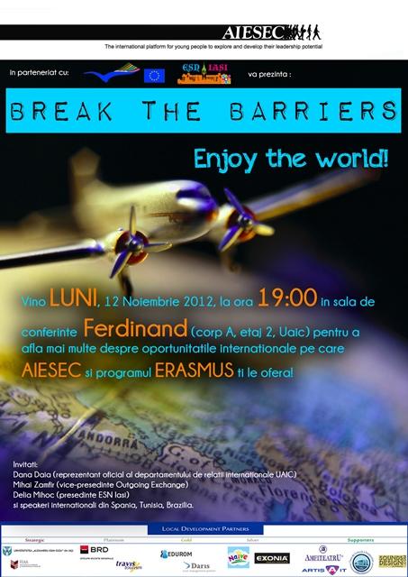 "Conferința ""Break the barriers, enjoy the world!"""