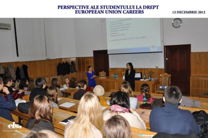 Perspective juridice ale studentului la Drept – EU Careers