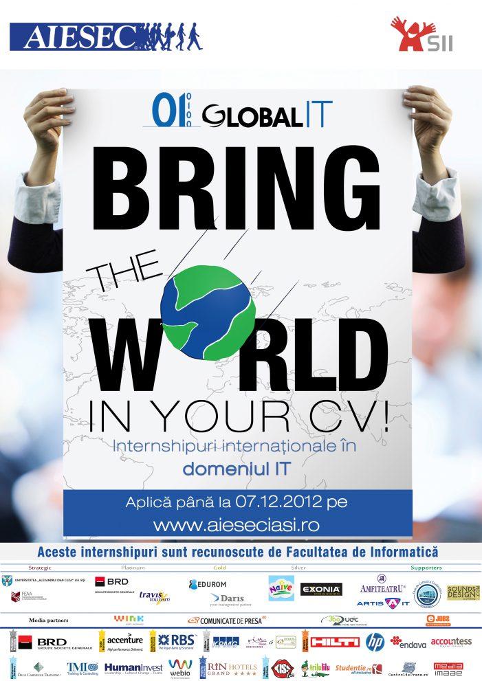 Internshipuri internaționale în domeniul IT