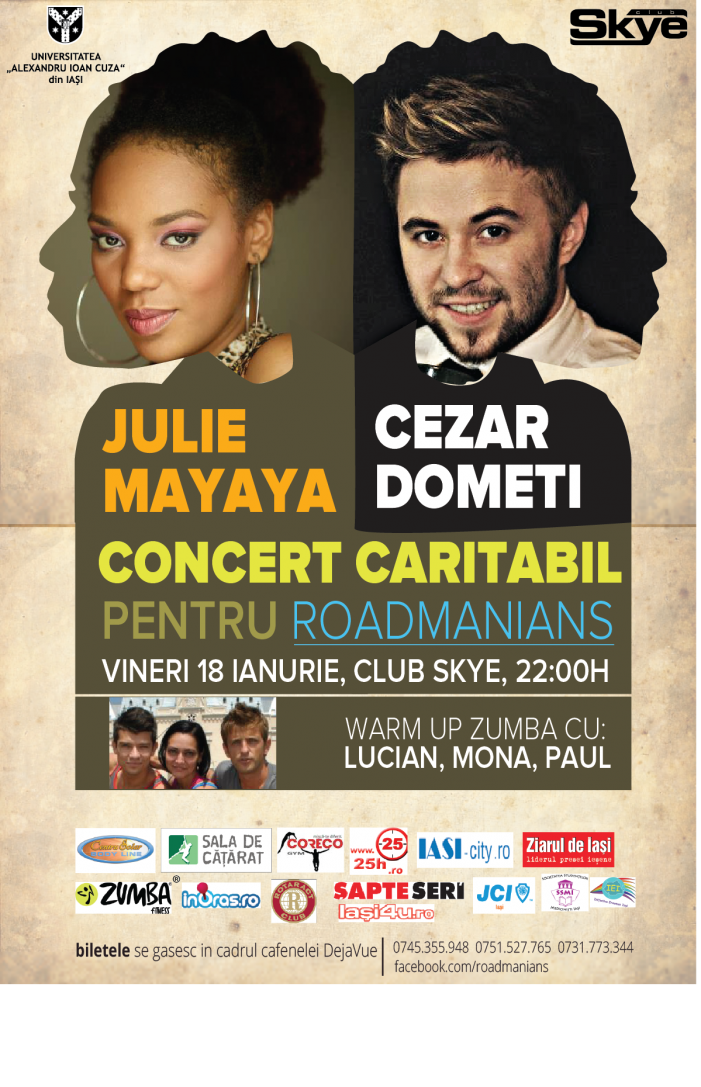 Concert caritabil: Julie Mayaya şi Cezar Dometi