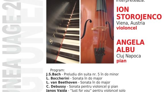 Recital de violoncel şi pian la UAGE