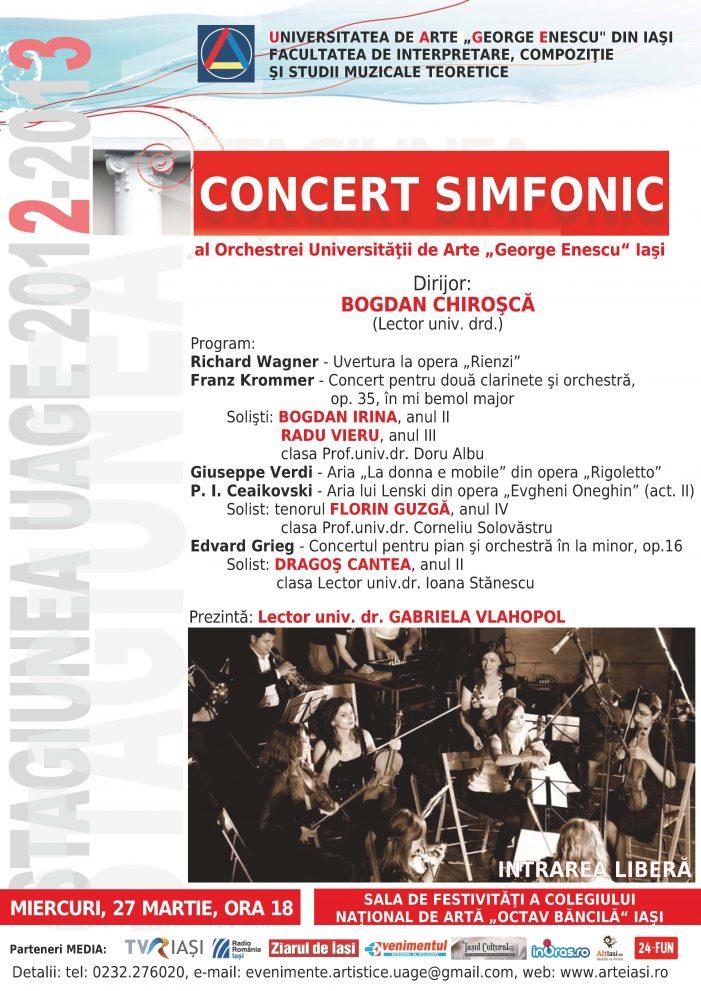 Concert simfonic la UAGE