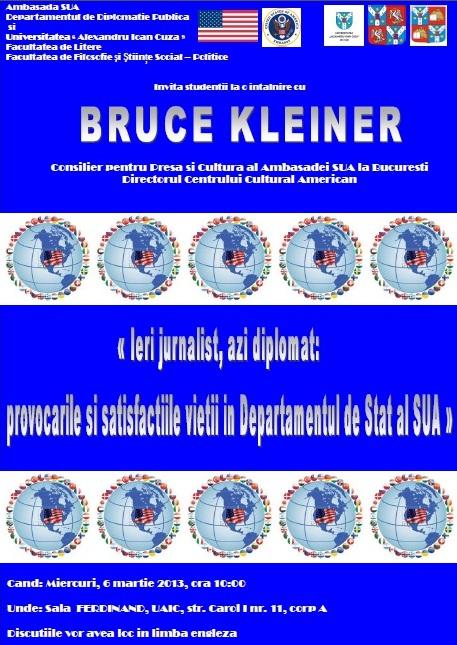 Conferință despre jurnalism și diplomație
