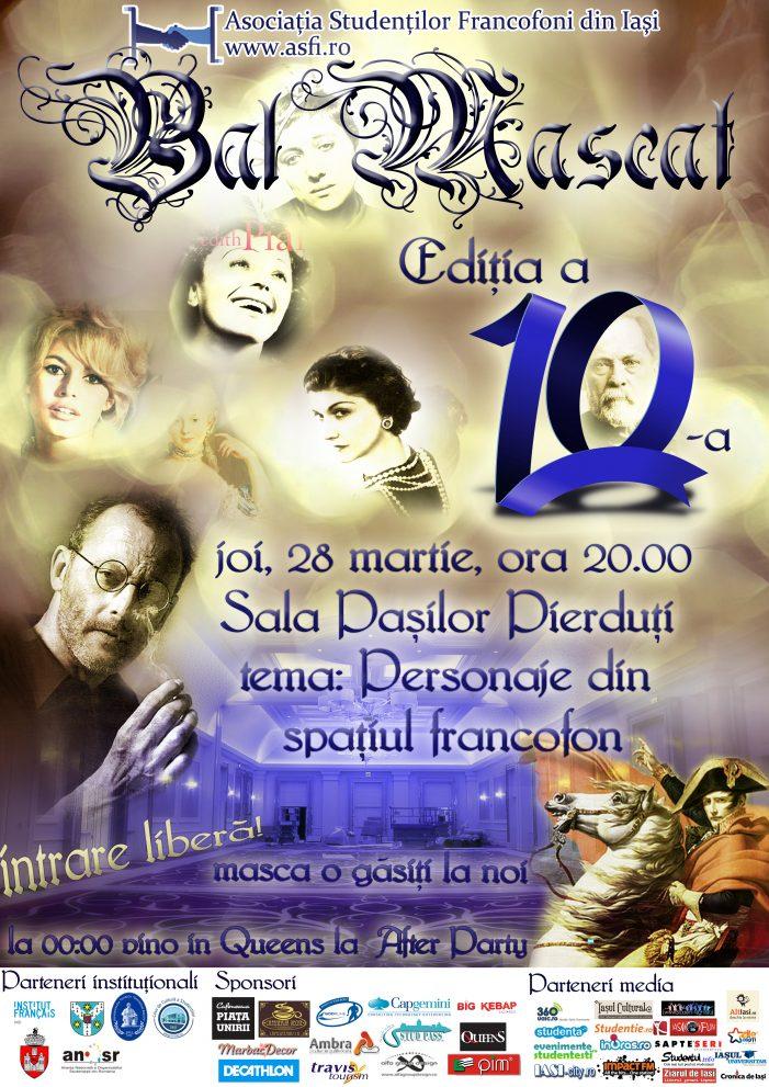 Personajele din spaţiul francofon prind viață la Bal Mascat!