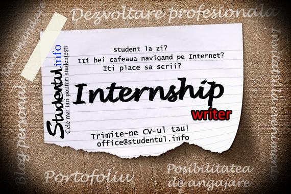 Studentul.info caută interni pe partea de editare online