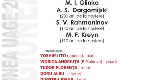 Recital instrumental dedicat compozitorilor ruşi la UAGE