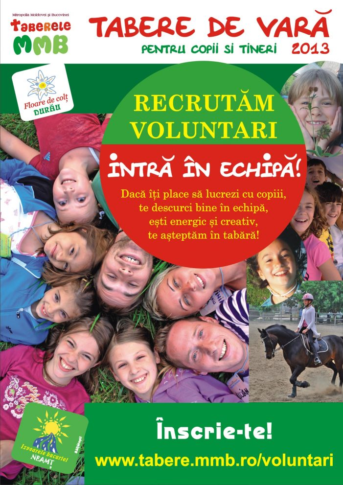 Mitropolia caută voluntari pentru tabere de vară