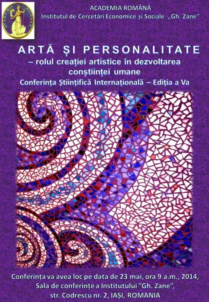 Conferinţa Artă şi Personalitate – rolul creației artistice în dezvoltarea conștiinței umane
