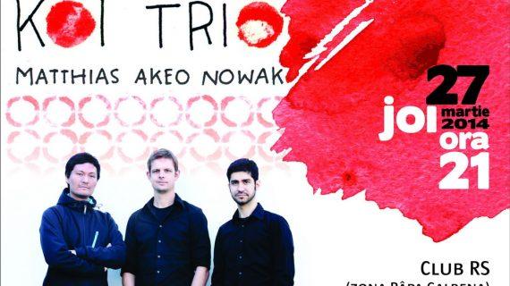 """Concert de jazz cu trupa """"KOI Trio """" din Germania"""
