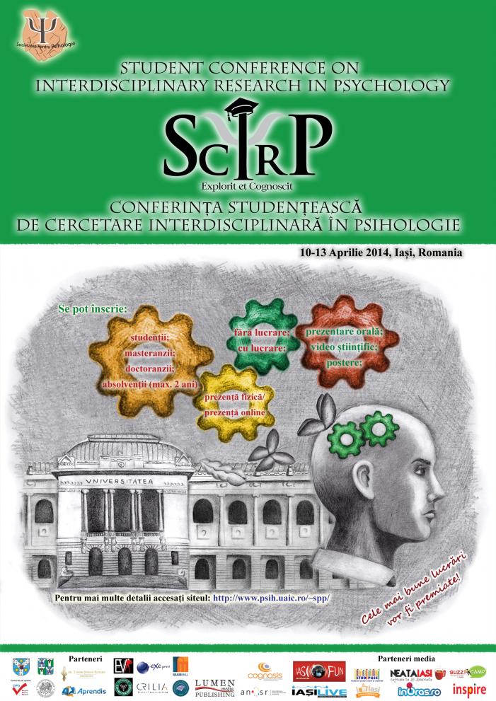 Înscrie-te la Conferința Studențească de Cercetare Interdisciplinară în Psihologie (SCIRP)