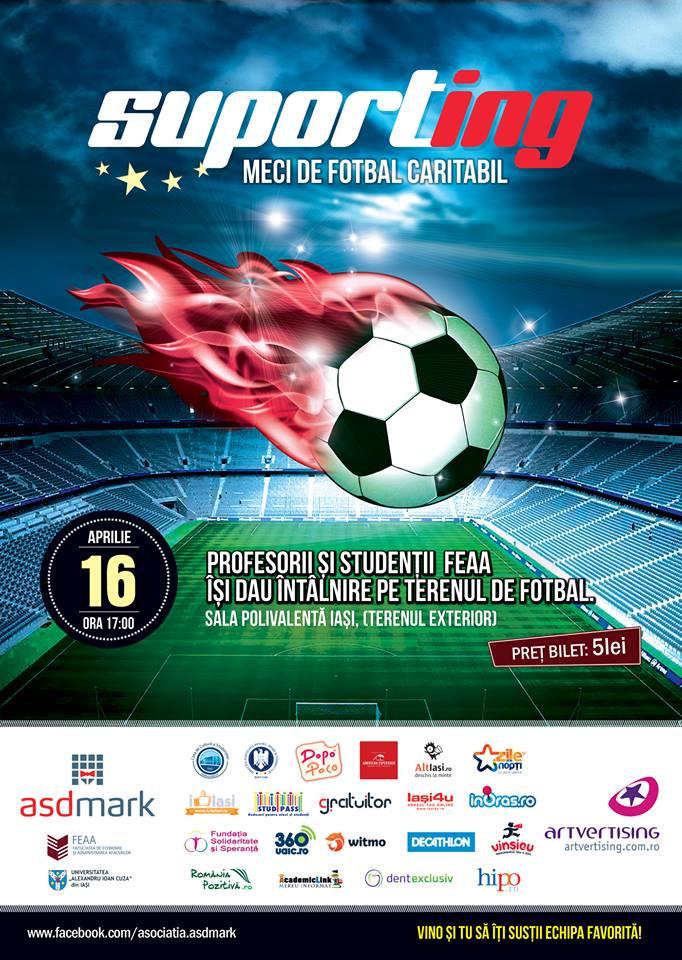 SuPORTing- meci de fotbal caritabil între o echipă de profesori şi una de studenţi