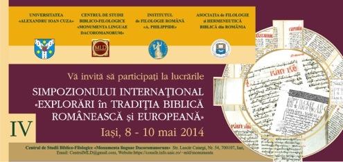 """Simpozionul Internaţional """"Explorări în tradiţia biblică românească şi europeană"""