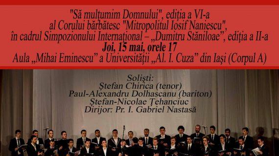 Concertul corului bărbătesc al Facultăţii de Teologie Ortodoxă