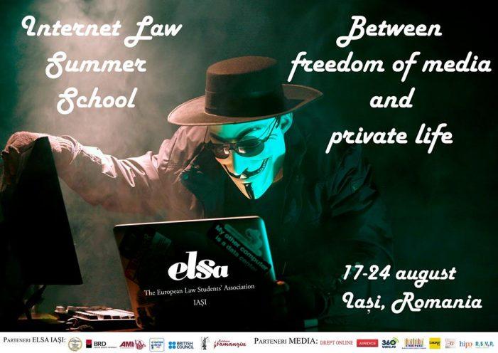 Libertatea mass-media şi viaţa privată, dezbătute la Internet Law Summer School