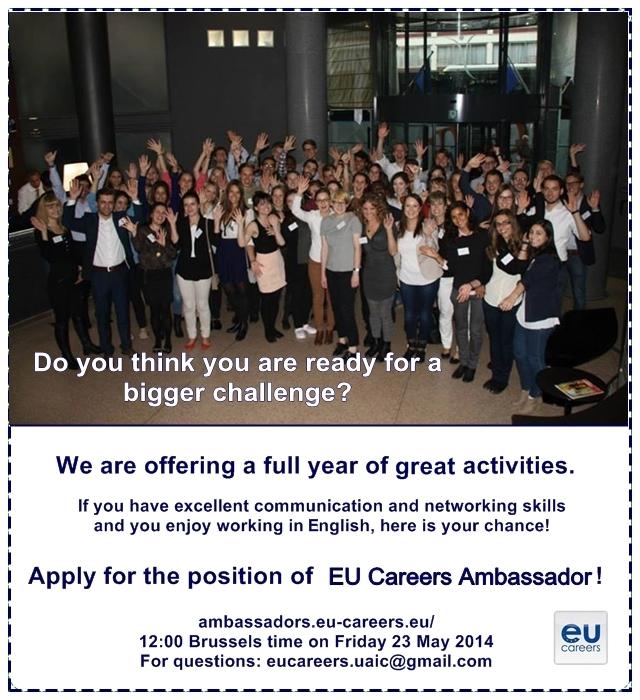 E ti student aplic pentru pozi ia de ambasador eu - European personnel selection office epso ...
