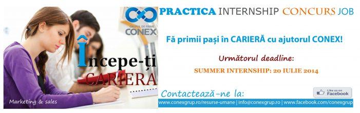Oportunităţi de practică şi internship în domeniul Marketingului la grupul de firme Conex