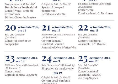 Festivalul Muzicii Românești, Iași 17-28 octombrie 2014
