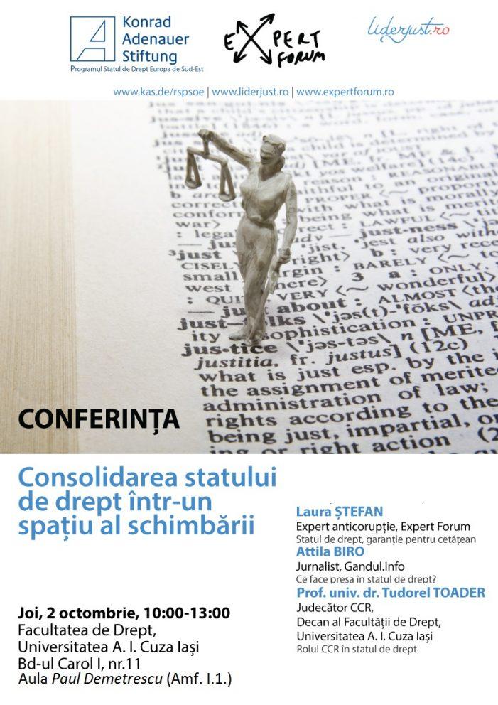 Conferință: Consolidarea statului de drept într-un spațiu al schimbării